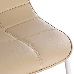 Photos 4: Bizzotto Chair in metal and eco-leather - tortora 0731656