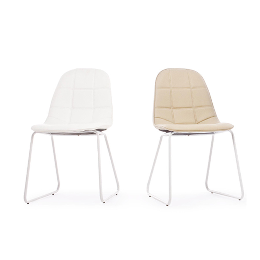 Photos 5: Bizzotto Chair in metal and eco-leather - tortora 0731656