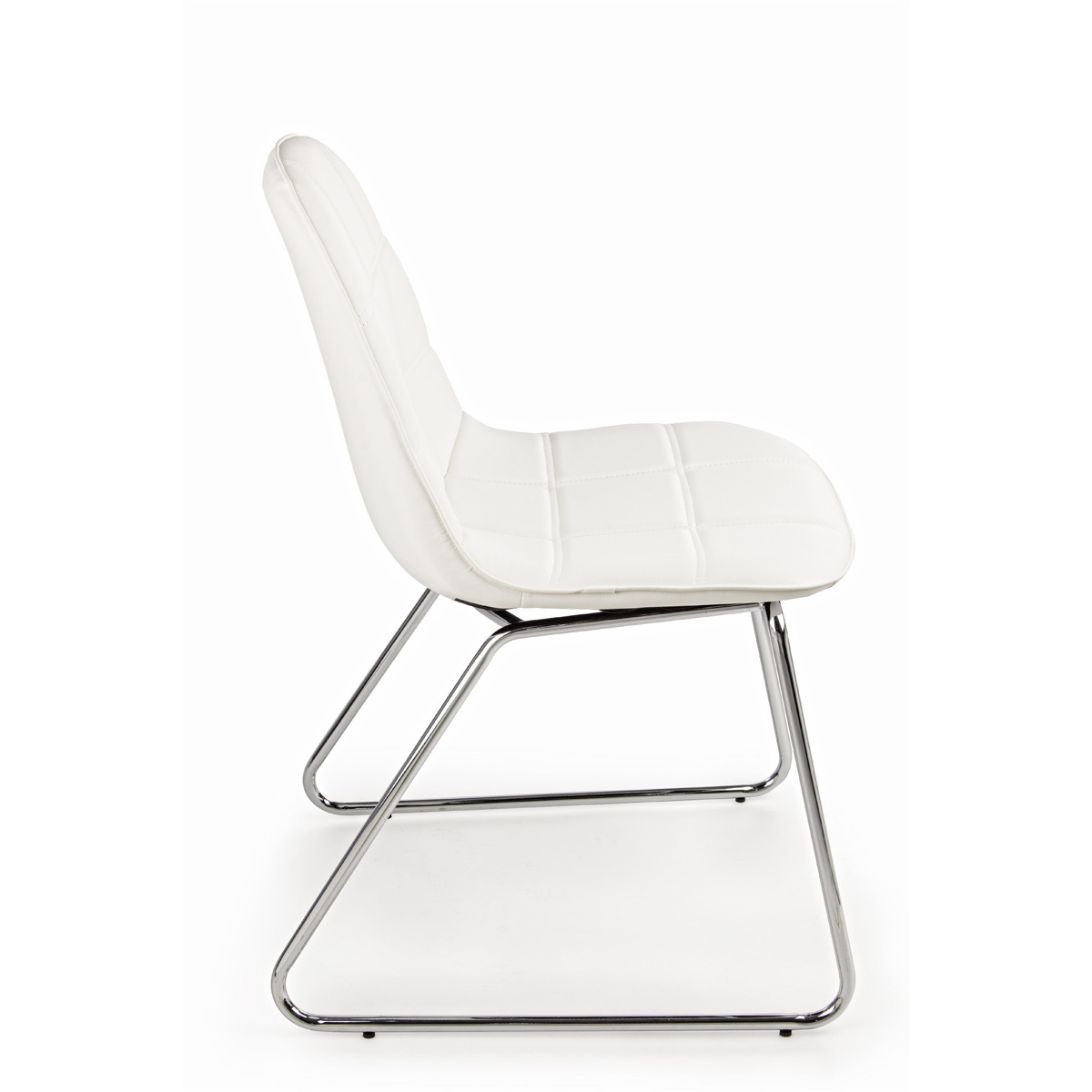 Photos 2: Bizzotto Chair in metal and eco-leather - white 0731662