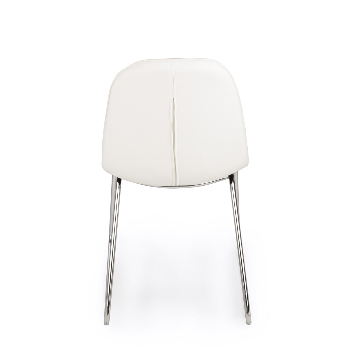 Photos 3: Bizzotto Chair in metal and eco-leather - white 0731662