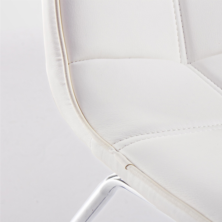 Photos 4: Bizzotto Chair in metal and eco-leather - white 0731662