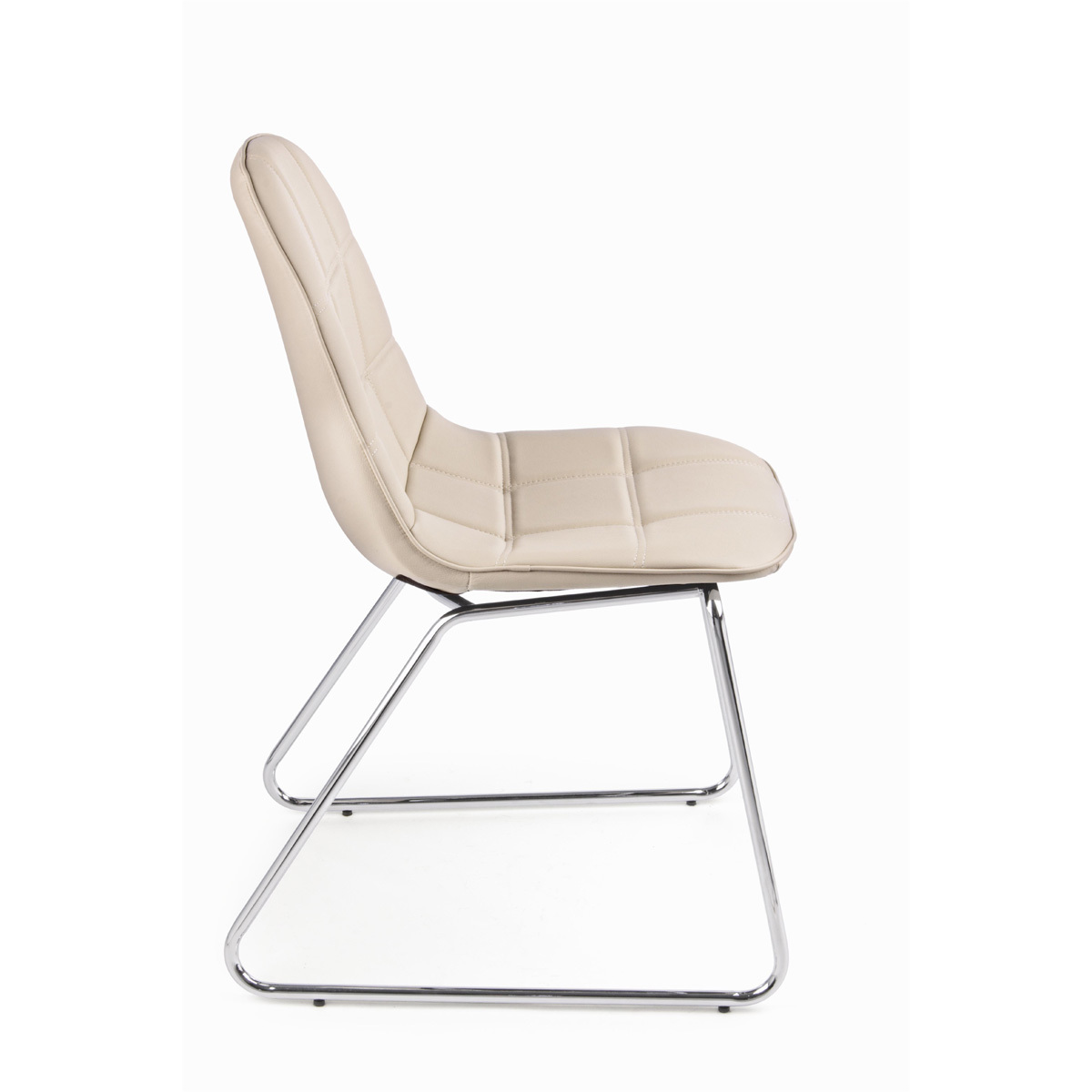 Photos 2: Bizzotto Chair in metal and eco-leather - tortora 0731665