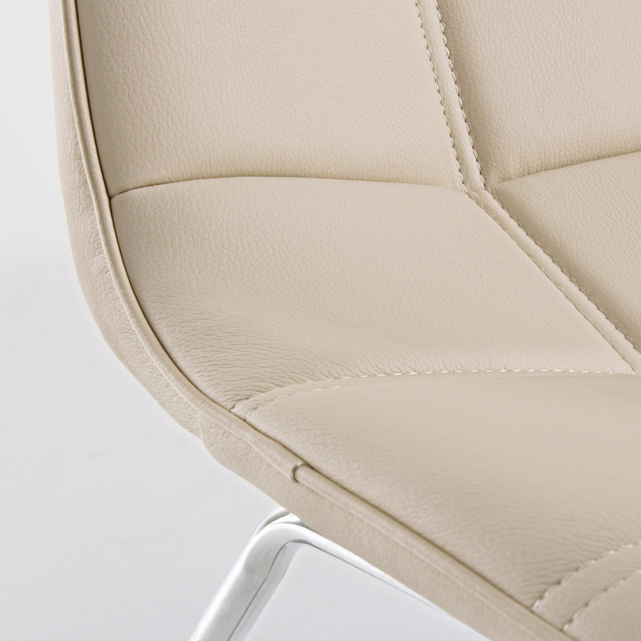 Photos 4: Bizzotto Chair in metal and eco-leather - tortora 0731665