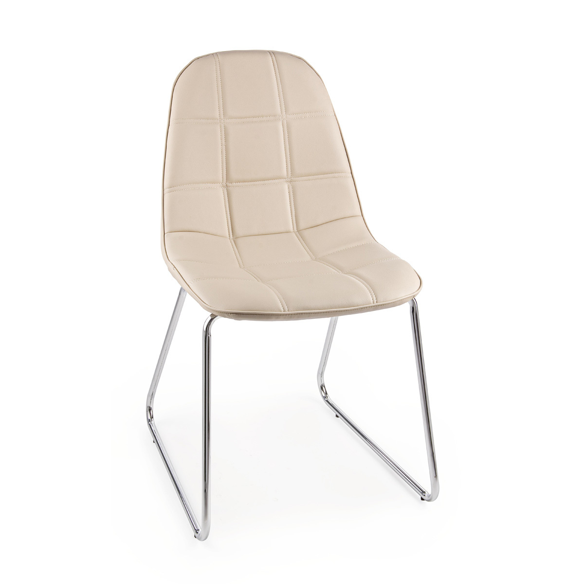 Photos 1: Bizzotto Chair in metal and eco-leather - tortora 0731665