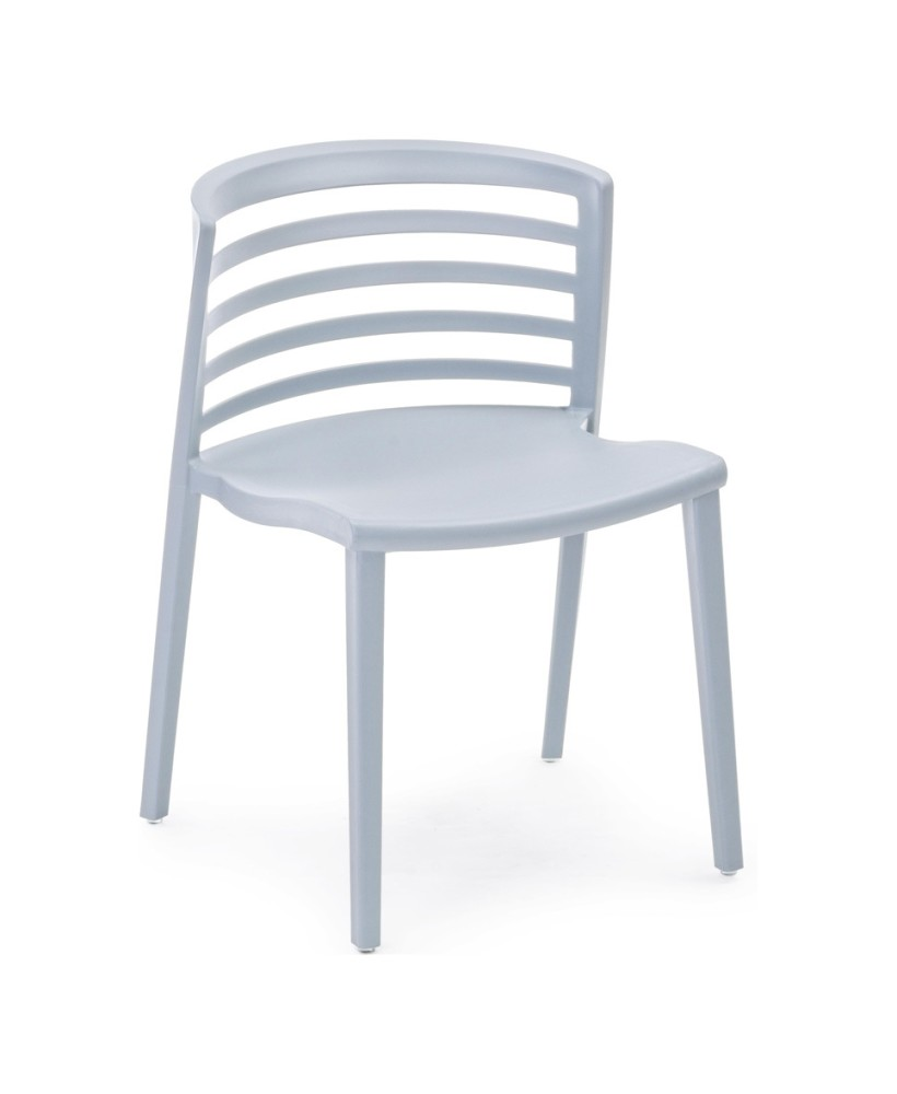 Photos 1: Bizzotto 0731687 Francis Chair in polypropylene - gray