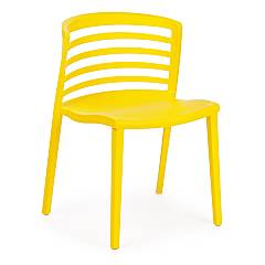 Bizzotto 0731688 Chair in polypropylene - yellow Francis