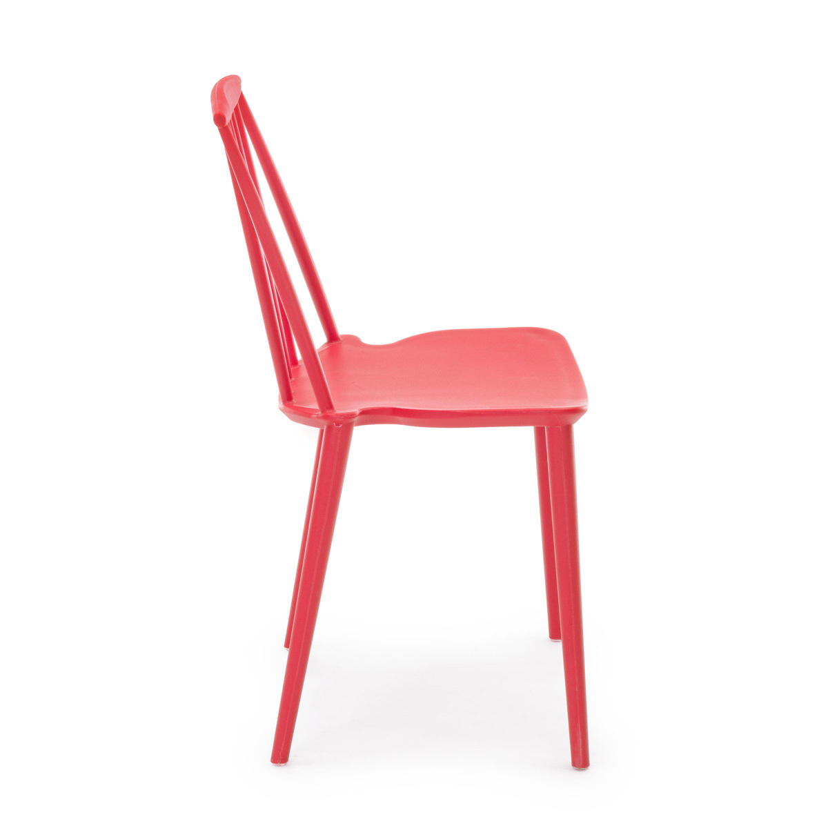 Photos 2: Bizzotto Chair in polypropylene - red 0731690