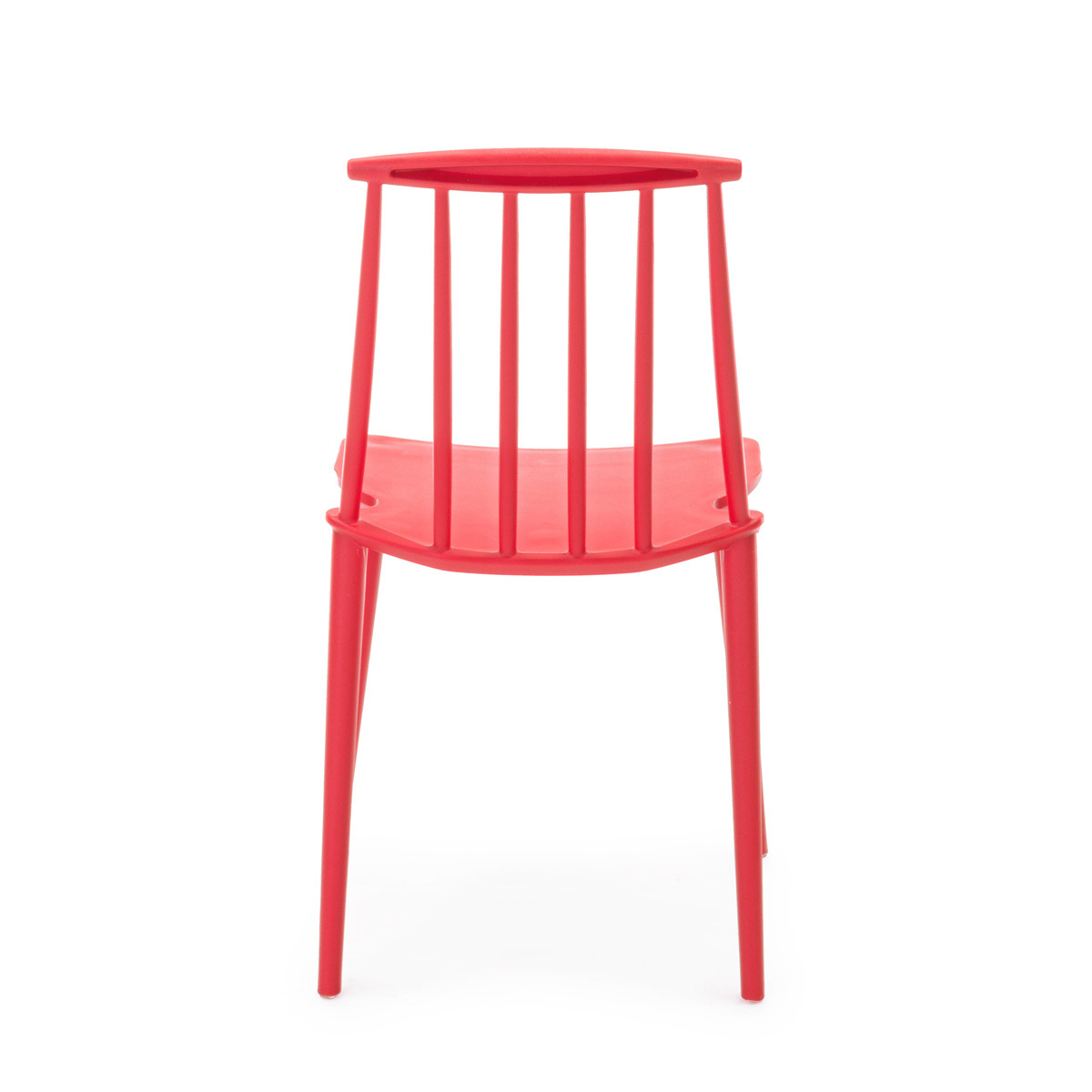 Photos 3: Bizzotto Chair in polypropylene - red 0731690