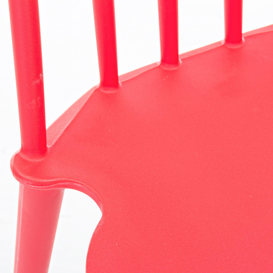 Photos 4: Bizzotto Chair in polypropylene - red 0731690