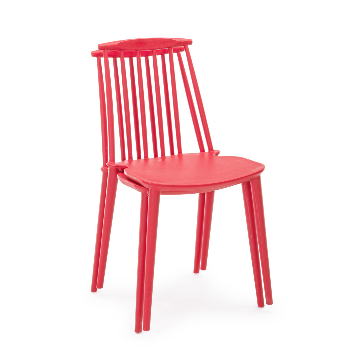 Photos 5: Bizzotto Chair in polypropylene - red 0731690