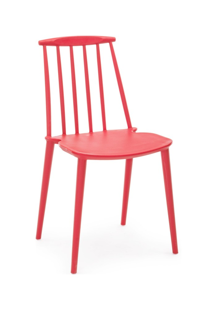 Photos 1: Bizzotto Chair in polypropylene - red 0731690