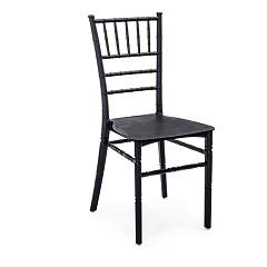 Bizzotto 0731692 Chair in polypropylene - black Fitzgerald