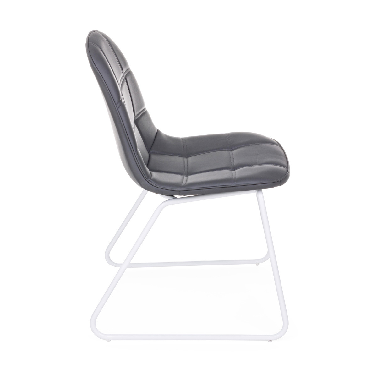 Photos 2: Bizzotto Chair in metal and eco-leather - anthracite 0731709