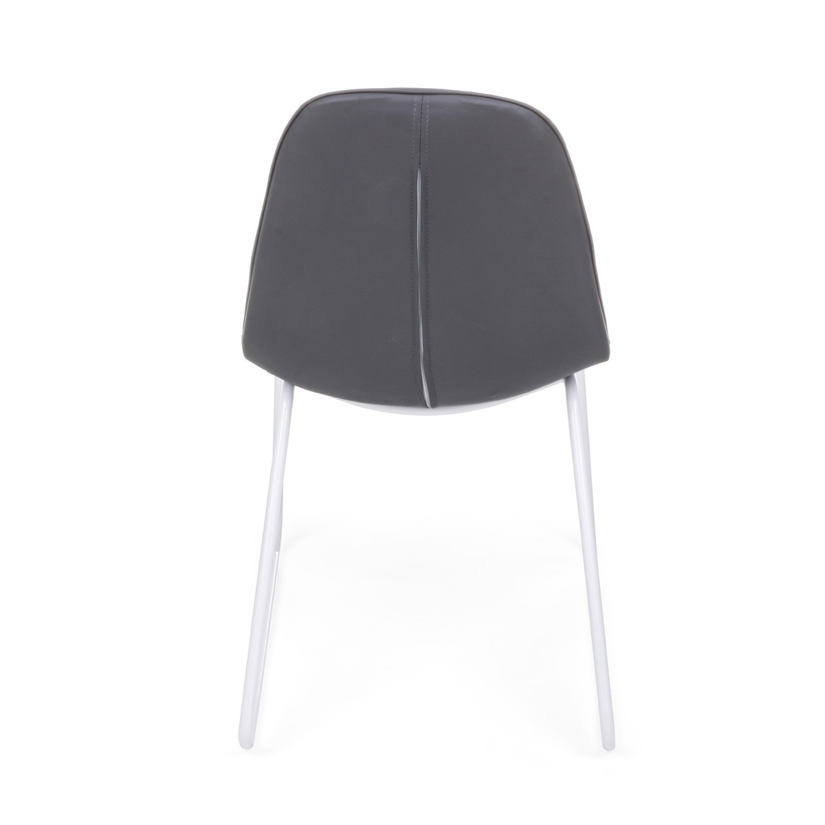 Photos 3: Bizzotto Chair in metal and eco-leather - anthracite 0731709