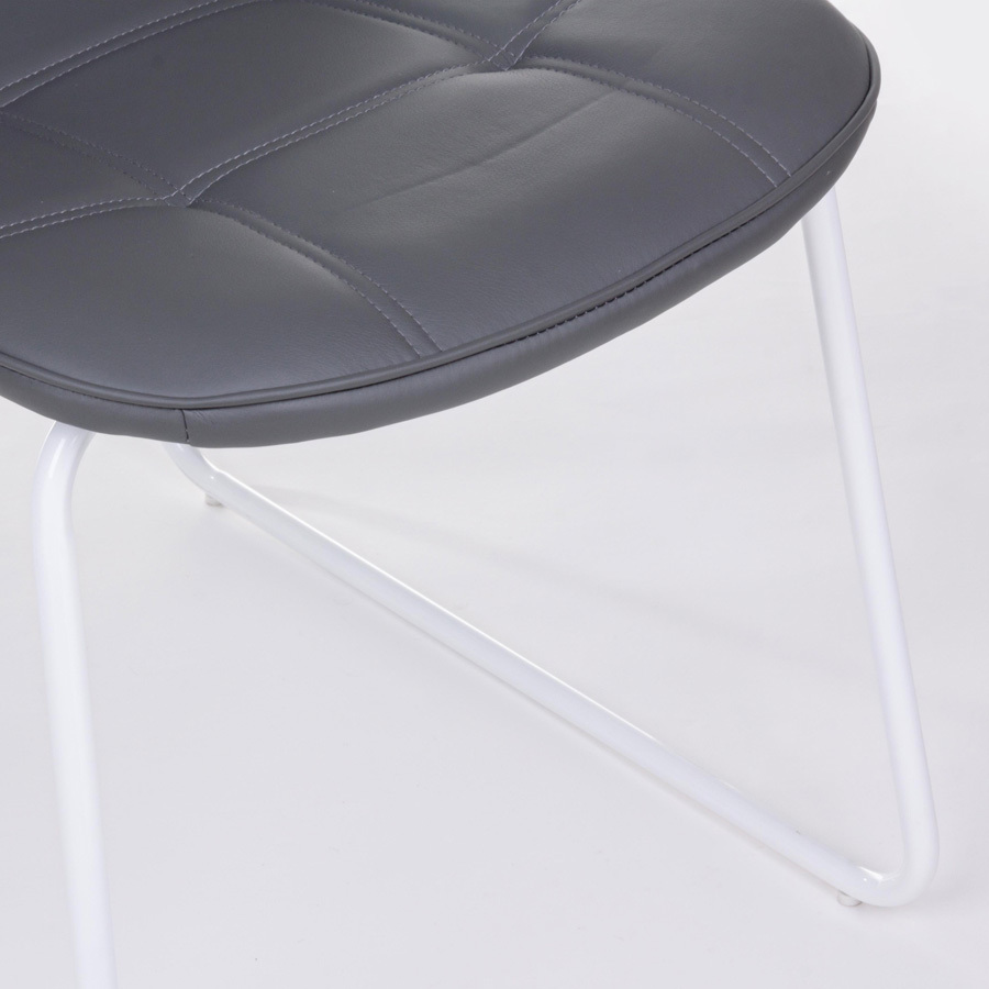 Photos 4: Bizzotto Chair in metal and eco-leather - anthracite 0731709