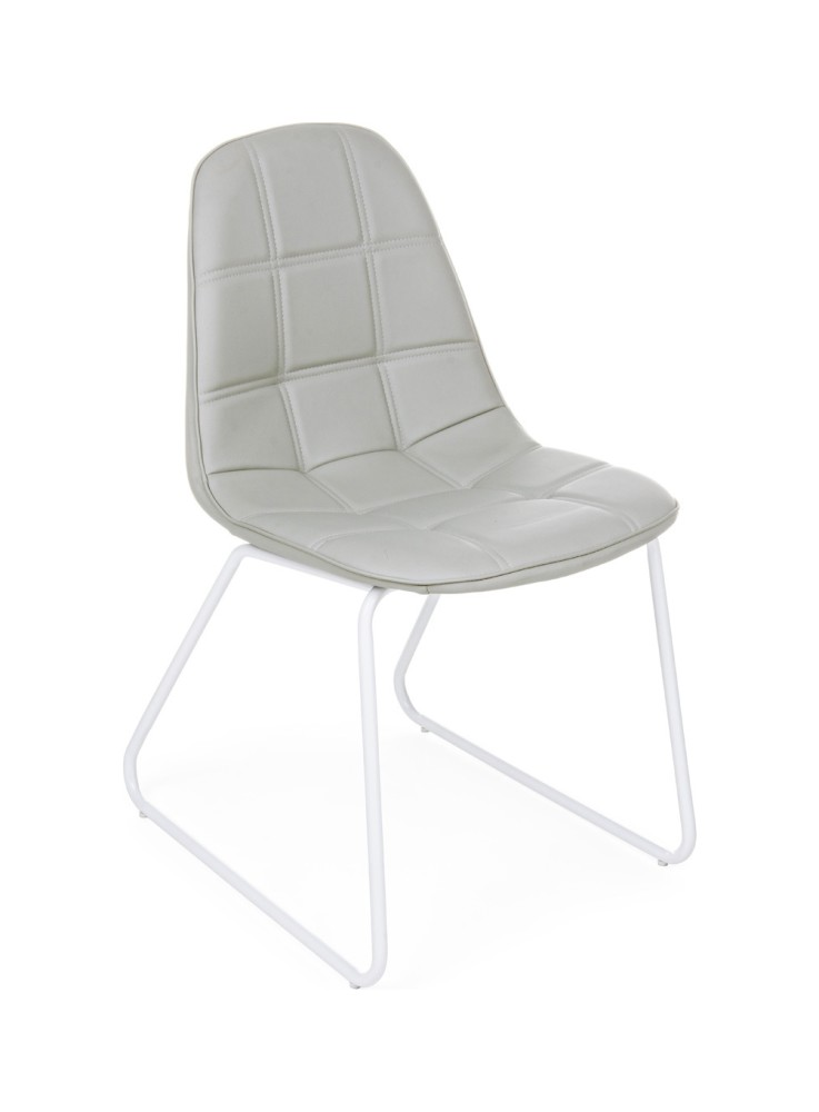 Photos 1: Bizzotto Chair in metal and eco-leather - corda 0731710