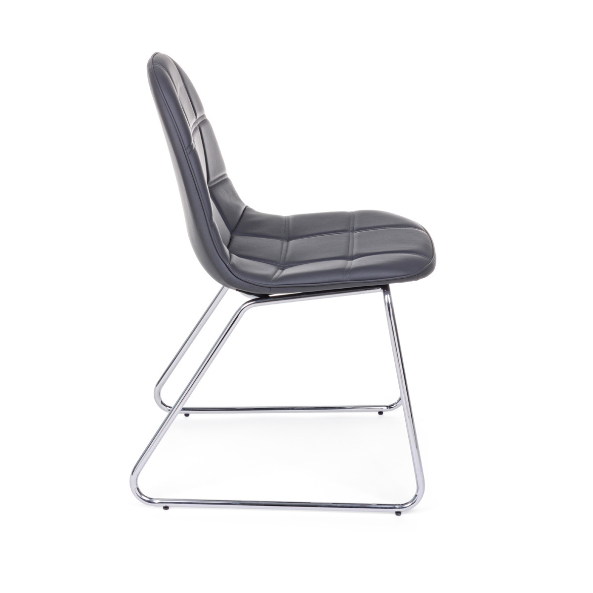 Photos 2: Bizzotto Chair in metal and eco-leather - anthracite 0731711