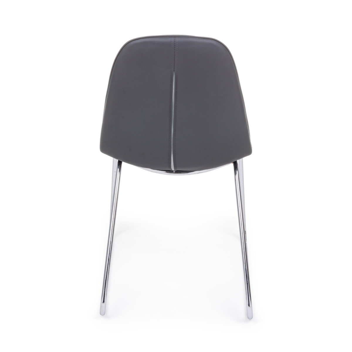 Photos 3: Bizzotto Chair in metal and eco-leather - anthracite 0731711