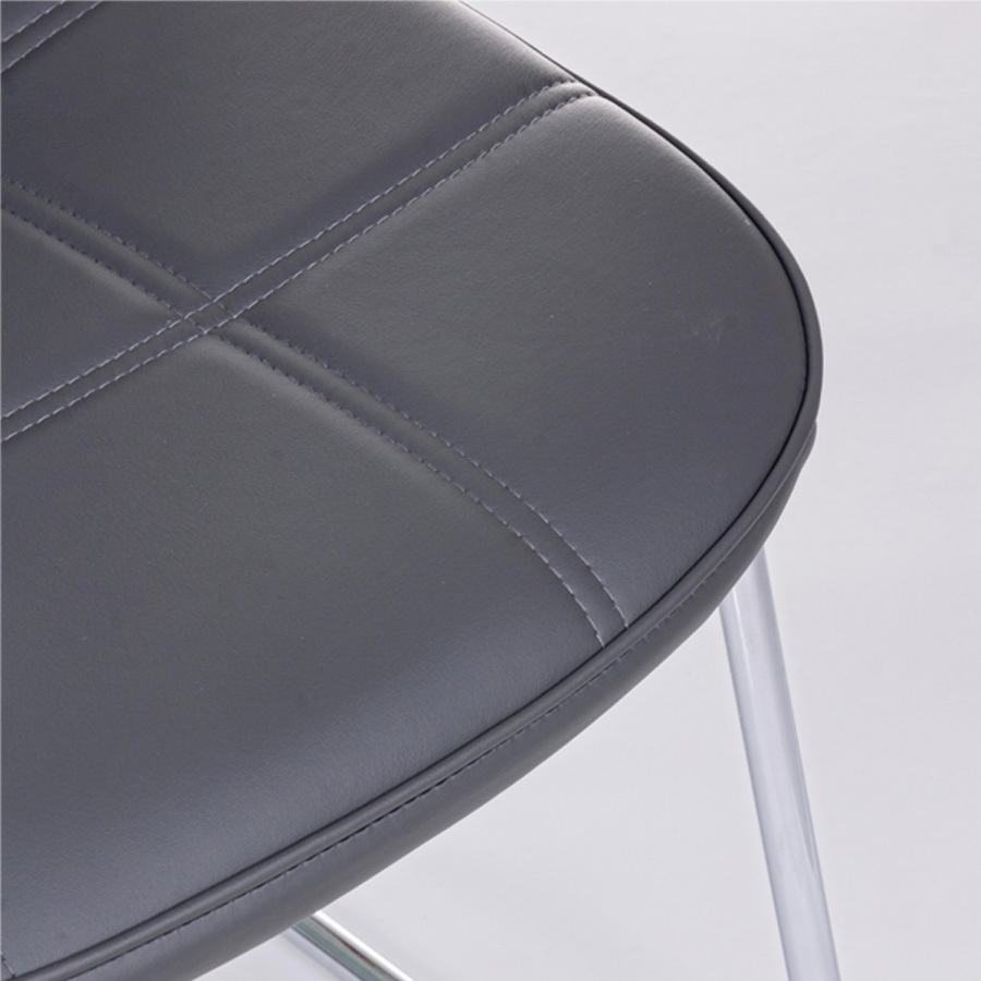 Photos 4: Bizzotto Chair in metal and eco-leather - anthracite 0731711
