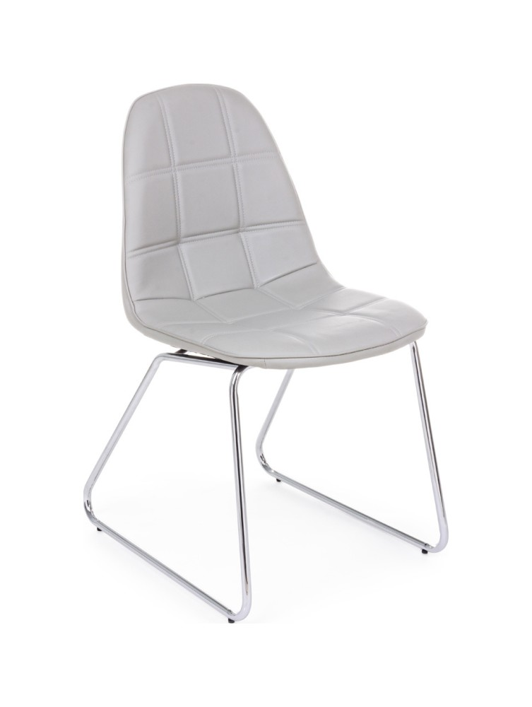 Photos 1: Bizzotto 0731712 Jolly Chair in metal and eco-leather - corda