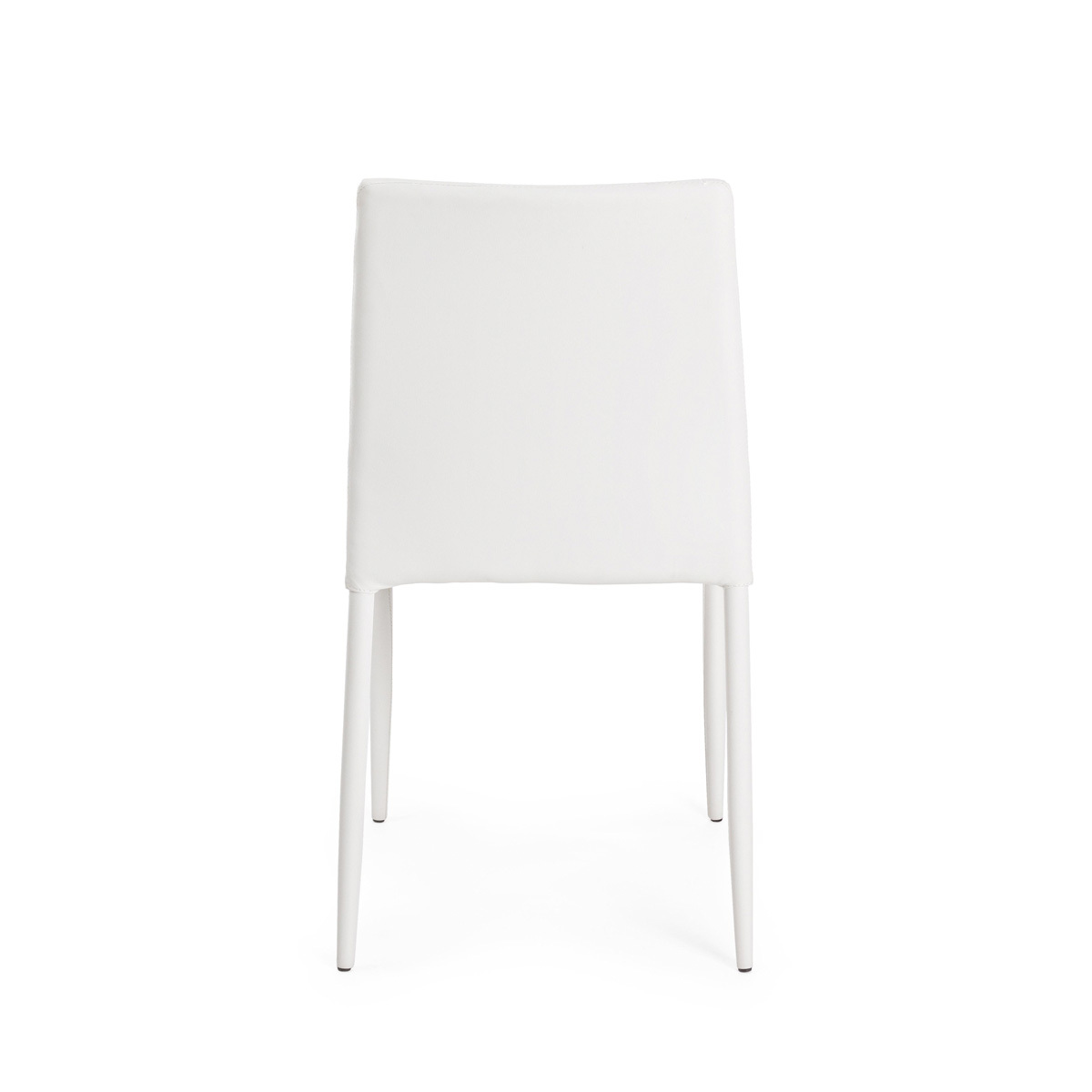 Photos 3: Bizzotto Chair in metal and eco-leather - white 0731794