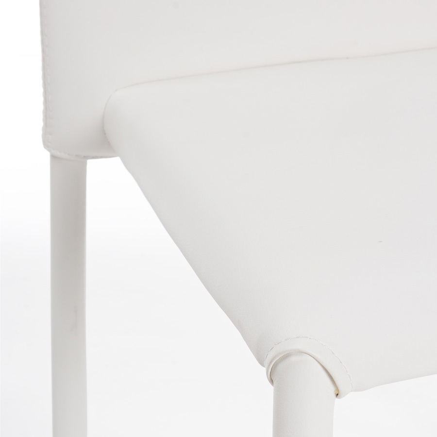 Photos 5: Bizzotto Chair in metal and eco-leather - white 0731794