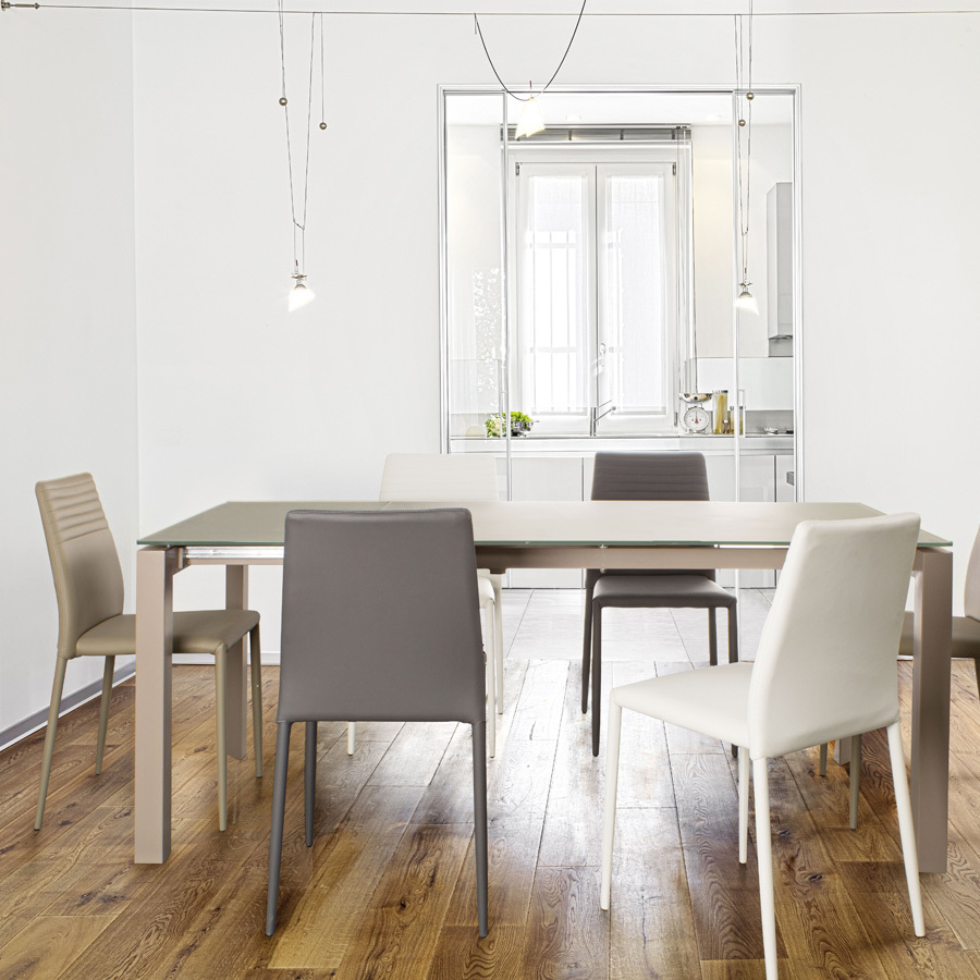 Photos 7: Bizzotto Chair in metal and eco-leather - white 0731794
