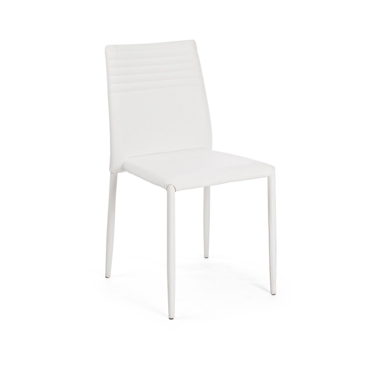 Photos 1: Bizzotto Chair in metal and eco-leather - white 0731794