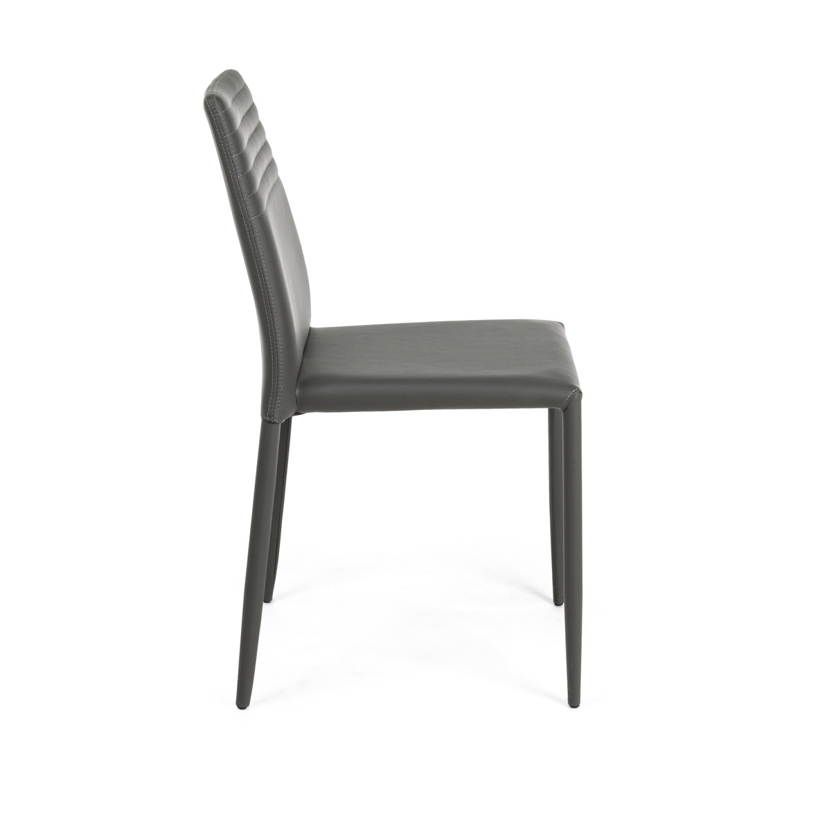 Photos 2: Bizzotto Chair in metal and eco-leather - anthracite 0731797