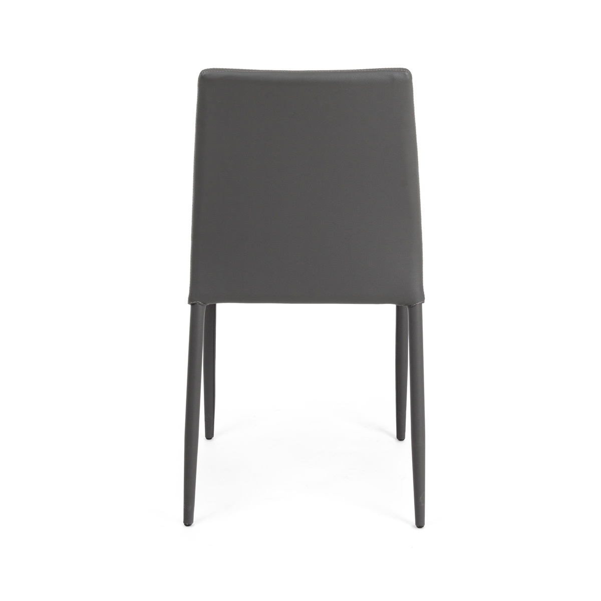 Photos 3: Bizzotto Chair in metal and eco-leather - anthracite 0731797