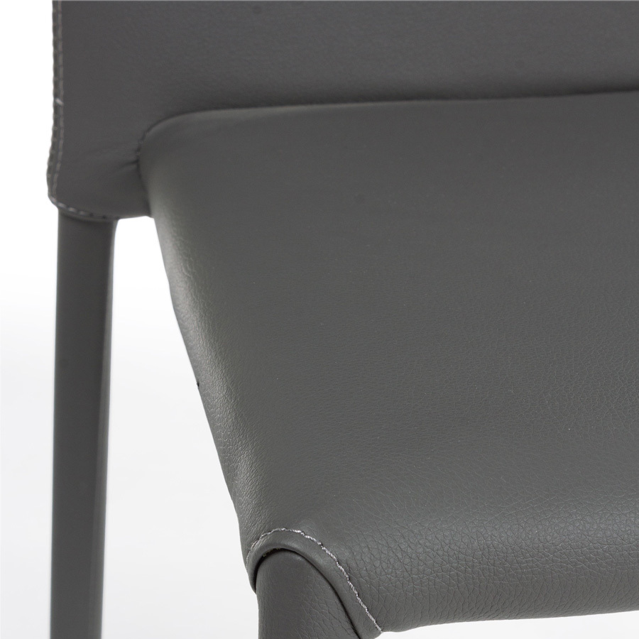Photos 5: Bizzotto Chair in metal and eco-leather - anthracite 0731797