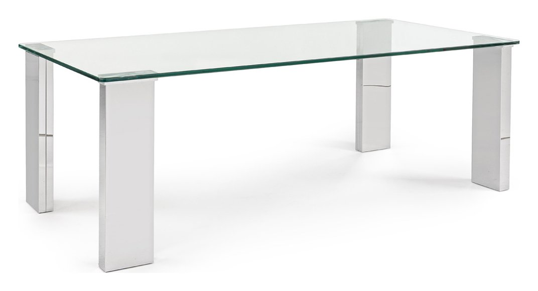 Photos 1: Bizzotto 0731955 Arley Rectangular table in glass l. 120 x 60