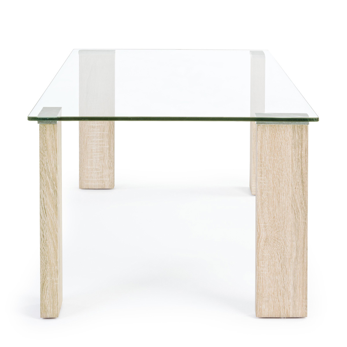 Photos 3: Bizzotto Table in glass and wood l. 120 x 60 0731677