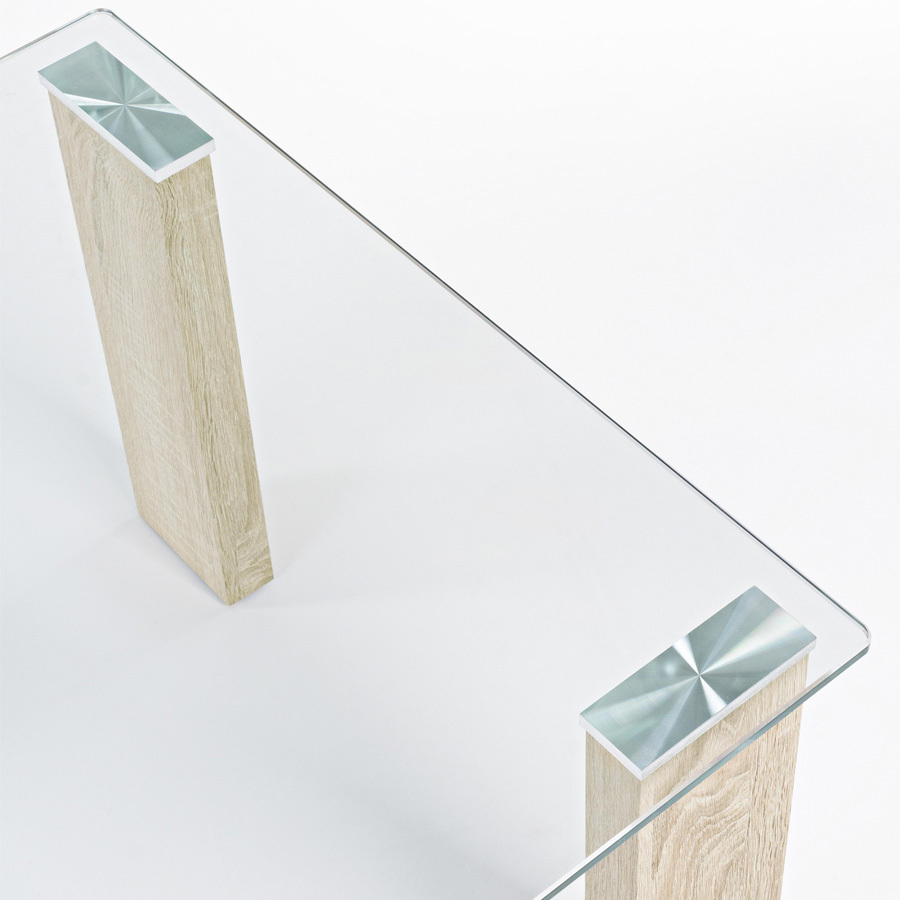 Photos 4: Bizzotto Table in glass and wood l. 120 x 60 0731677