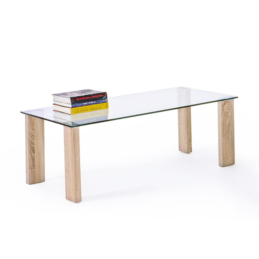 Photos 5: Bizzotto Table in glass and wood l. 120 x 60 0731677