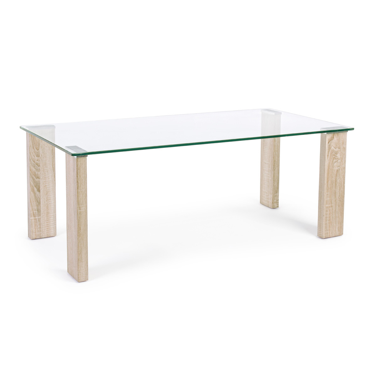 Photos 1: Bizzotto Table in glass and wood l. 120 x 60 0731677
