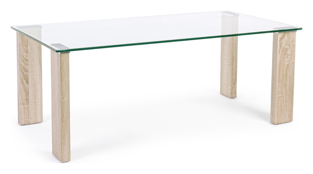 Photos 1: Bizzotto 0731677 Arley Table in glass and wood l. 120 x 60