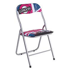 Bizzotto 5730521 Foldable metal chair - london Joy