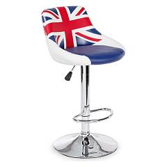 Bizzotto 5731371 Stool in metal and eco-leather - uk Drapeau
