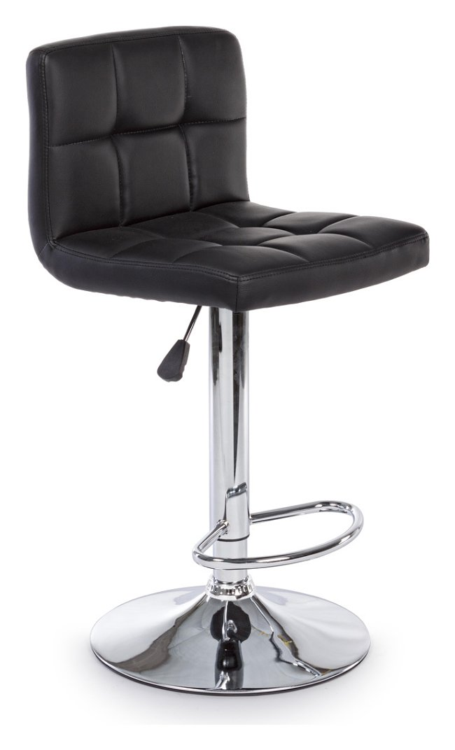 Photos 1: Bizzotto 5731376 Memphis Stool in metal and eco-leather - black