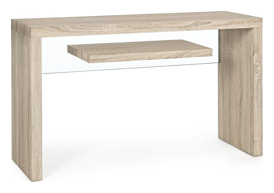 Photos 1: Bizzotto 5732000 Bilbao Fixed console in wood and glass l. 120 x 40