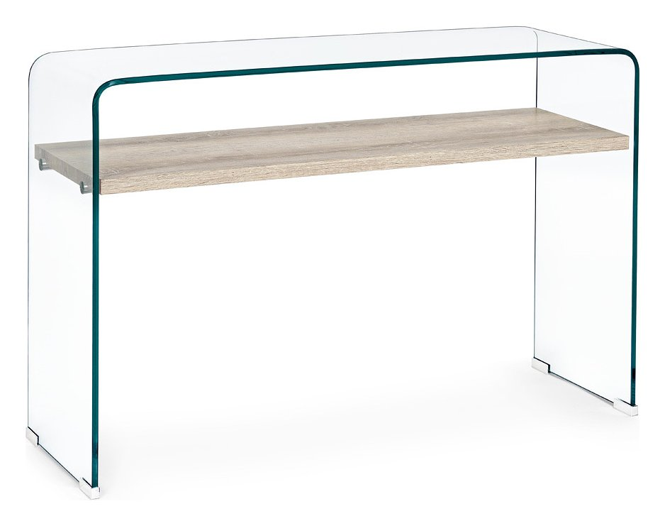 Photos 1: Bizzotto 5732029 Kenya Fixed console in glass and wood l. 110 x 35
