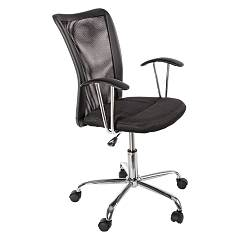 Bizzotto 0710151 Office armchair with wheels - black Notredame