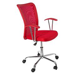 Bizzotto 0710152 Office armchair with wheels - red Notredame