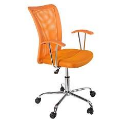 sale Bizzotto 0710153 - Notredame Chair Office With Wheel - Orange