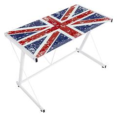 sale Bizzotto 0710348 - English Desk Metal And Glass L. 90 X 55