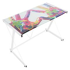 Bizzotto 0710356 Bureau en metal et verre l. 90 x 55 Hands