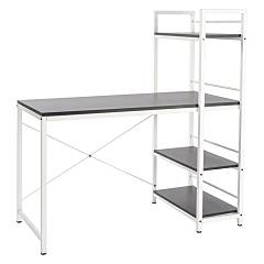 Bizzotto 0710360 Desk metal and wood l. 120 x 63 with bookcase Hip Hop