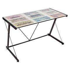 sale Bizzotto 0710365 - Ticket Desk Metal And Glass, L. 120 X 60