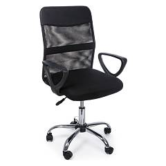 Bizzotto 5710198 Office armchair with wheels - black Nairobi